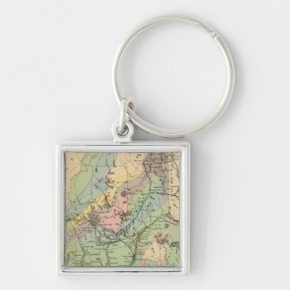 Geological map of Maine Keychain