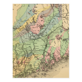 Geological map of Maine Postcard