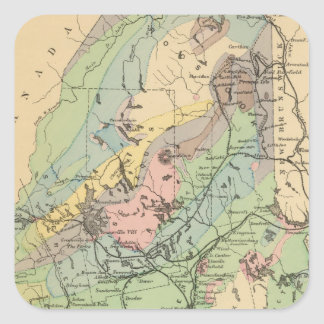 Geological map of Maine Square Sticker