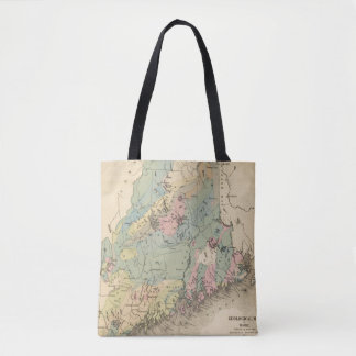 Geological map of Maine Tote Bag