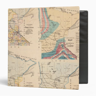 Geological map of Minnesota by NH Winchell 3 Ring Binder