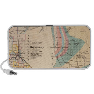 Geological map of Minnesota by NH Winchell Mini Speakers