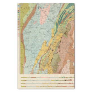 """Geological Map of New Hampshire 2 10"""" X 15"""" Tissue Paper"""