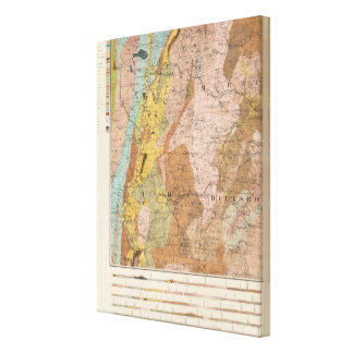 Geological Map of New Hampshire 2 Canvas Print
