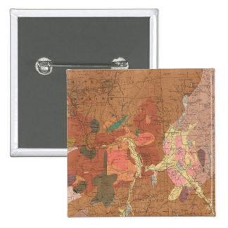 Geological Map of New Hampshire 2 Inch Square Button