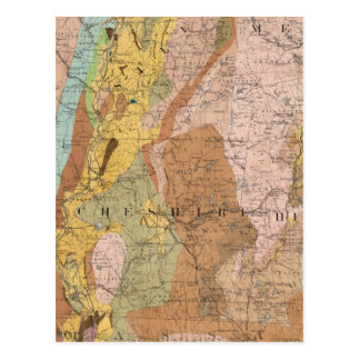 Geological Map of New Hampshire 2 Postcard