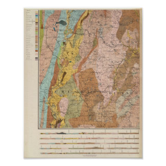 Geological Map of New Hampshire 2 Print