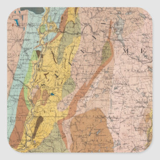 Geological Map of New Hampshire 2 Square Sticker