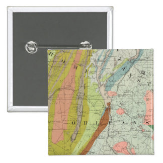 Geological Map of New Hampshire 3 2 Inch Square Button