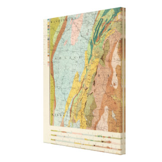 Geological Map of New Hampshire 3 Canvas Print