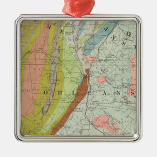 Geological Map of New Hampshire 3 Metal Ornament