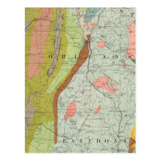 Geological Map of New Hampshire 3 Postcard