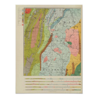Geological Map of New Hampshire 3 Poster