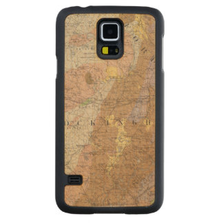Geological Map of New Hampshire 4 Carved® Maple Galaxy S5 Slim Case