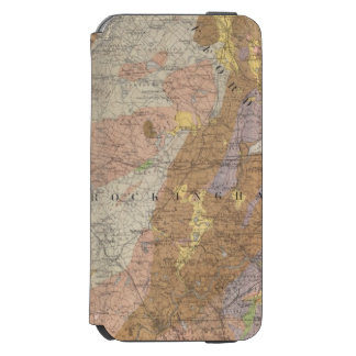 Geological Map of New Hampshire 4 iPhone 6/6s Wallet Case