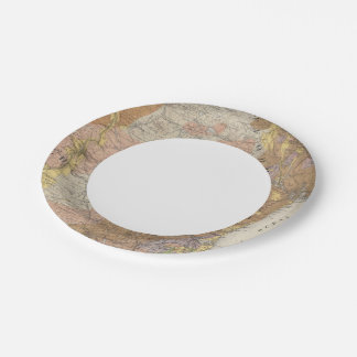 Geological Map of New Hampshire 4 Paper Plate