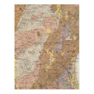 Geological Map of New Hampshire 4 Postcard