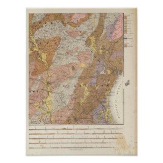 Geological Map of New Hampshire 4 Poster