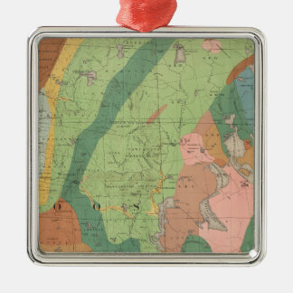 Geological Map of New Hampshire 5 Metal Ornament