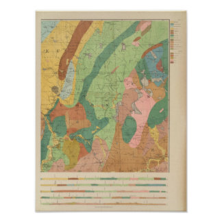 Geological Map of New Hampshire 5 Poster