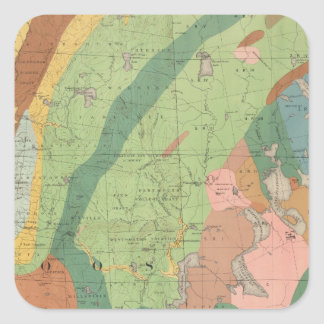 Geological Map of New Hampshire 5 Square Sticker