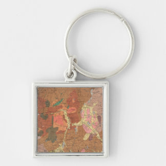 Geological Map of New Hampshire Keychain