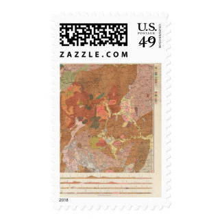 Geological Map of New Hampshire Stamp