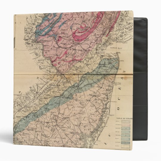 Geological map of New Jersey Binder