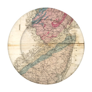 Geological map of New Jersey Button Covers