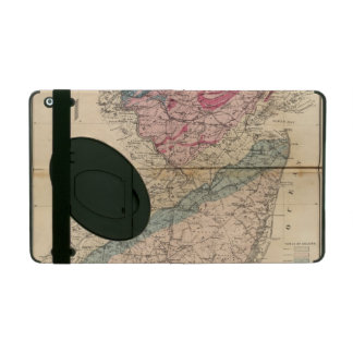 Geological map of New Jersey iPad Case