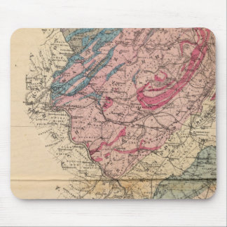Geological map of New Jersey Mouse Pad
