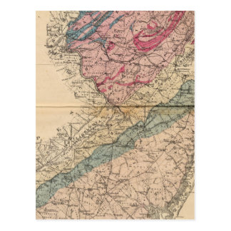 Geological map of New Jersey Post Card