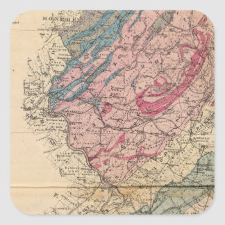 Geological map of New Jersey Square Sticker