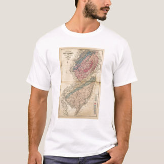 Geological map of New Jersey T-Shirt
