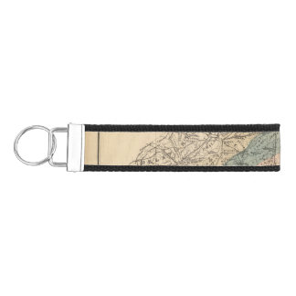 Geological map of New Jersey Wrist Keychain