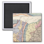 Geological map of Ohio 2 Inch Square Magnet