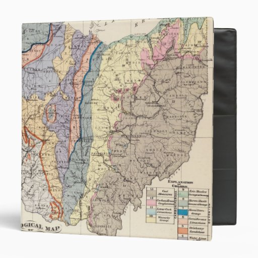 Geological map of Ohio 3 Ring Binders