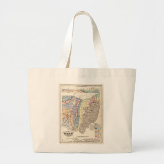Geological map of Ohio Large Tote Bag