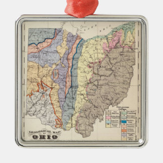 Geological map of Ohio Metal Ornament