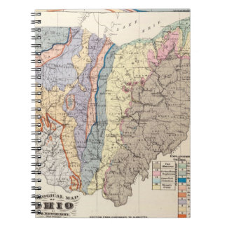 Geological map of Ohio Notebook