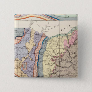 Geological map of Ohio Pinback Button