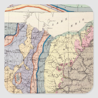 Geological map of Ohio Square Sticker