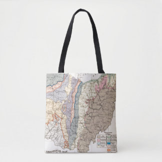 Geological map of Ohio Tote Bag