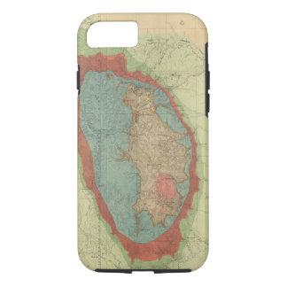 Geological map of the Black Hills of Dakota iPhone 7 Case