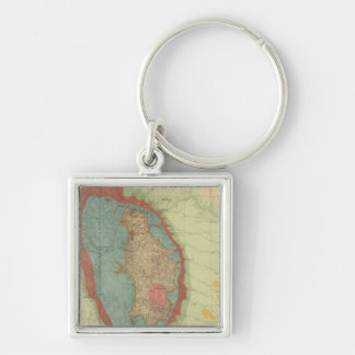 Geological map of the Black Hills of Dakota Keychain