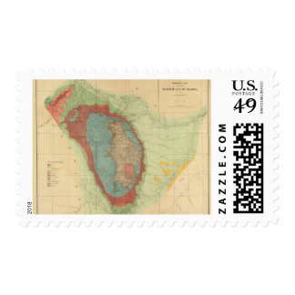 Geological map of the Black Hills of Dakota Postage Stamp