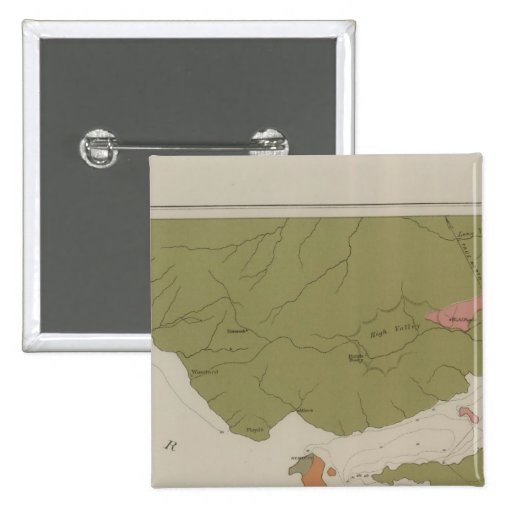 Geological Map of the Clear Lake District Pins