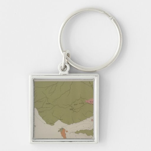 Geological Map of the Clear Lake District Keychain