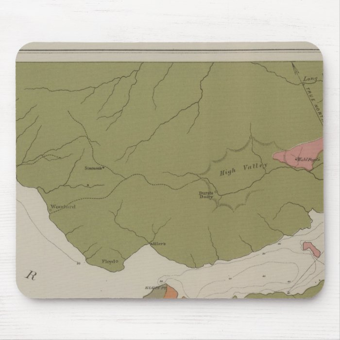 Geological Map of the Clear Lake District Mouse Pad