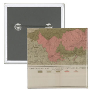 Geological Map of the Knoxville District Pinback Buttons
